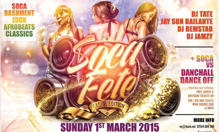 Soca Fete Ladies Edition March 2015