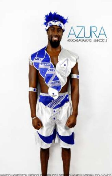 Soca Saga Boys Azura 2015 Mens costume