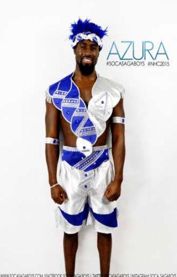 Soca Saga Boys Azura 2015 Mens costume