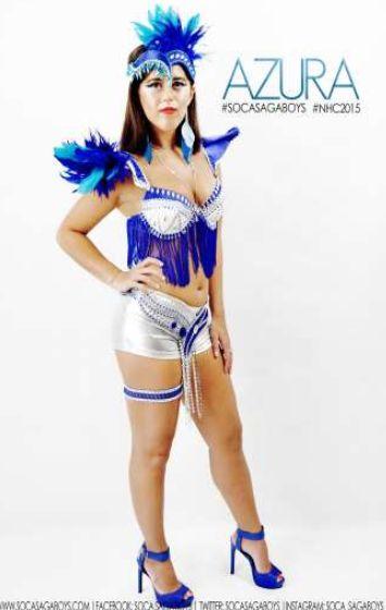 Soca Saga Boys Azura 2015 Womens Carnival costume