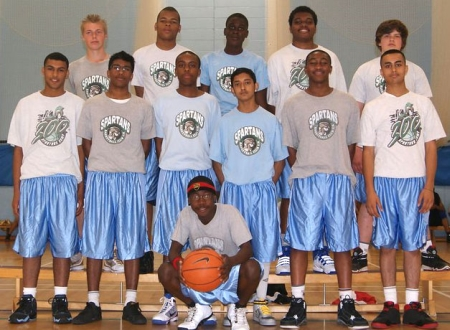 Spartans Basketball Boys team