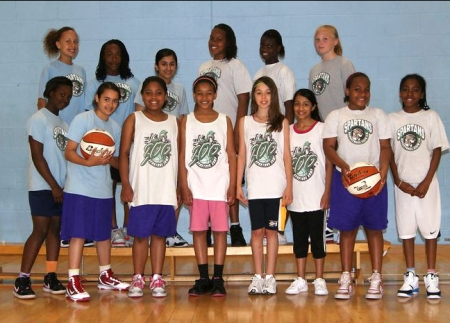 Spartans Basketball Girls team