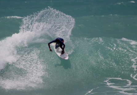 Surfing Trini Storm