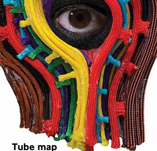 Tube Map Design by Hew Locke